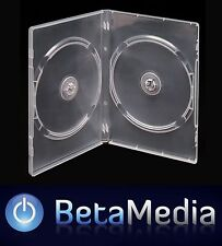 50 x Double Clear 14mm Quality CD DVD Cover Cases - Standard Size DVD case
