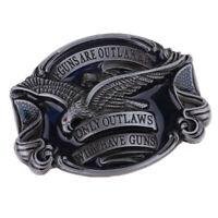 Vintage Oval Belt Buckle Soaring Eagle Cowboy Western Jeans Accessories Gift
