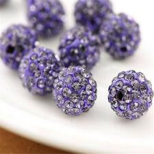10mm Rhinestone Crystal Round Disco Ball Shamballa Beads 100pcs Beading