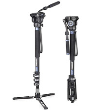 "Video Monopod Kit, ARTCISE 72"" Professional Aluminum Fluid Head Monopod"