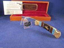 "Buck David Yellowhorse 112 Custom ""BULL RIDER "" Knife Vintage Edition Mint Case"