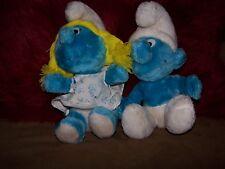 Vintage 1980's Peyo Smurfette Smurf Plush Stuffed Animal 11'