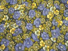 tissu polyester fleur violet  coupon 55cm X 120cm neuf mercerie couture 90