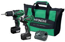 HITACHI KC10DFL 12V Peak 1.5Ah LIoN Drill and Impact Driver Combo Kit