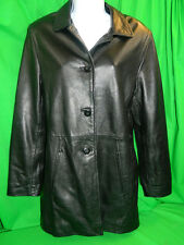 Kasper  Leather Jacket Coat Black Buttery Soft Light Weight Womens S Small