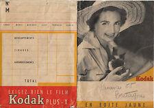 Pochette photos anciennes Kodak Plus - X 1955