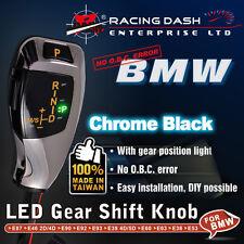 BMW LED Shift Gear Knob E9X E46 E60 E39 gear position light Chrome Black silver
