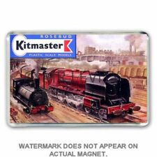 RETRO 60's KITMASTER  RAILWAY KIT CATALOGUE ARTWORK JUMBO Fridge / Locker Magnet