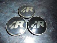 vw golf R alloy wheel centre caps x3    3B7 601 171