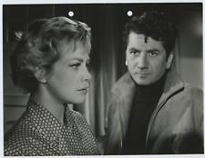France, Marie Dubois et Daniel Gélin  Vintage silver print Tirage argentique