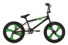 "20"" BMX BIKE FREESTYLE KINDER FAHRRAD RAD COBALT SCHWARZ-GRÜN KS CYCLING 605B"