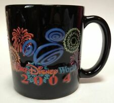 Walt Disney World 2004 Fireworks Mickey Mouse Ears Black Coffee Cup Mug 16 oz.
