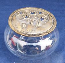 10166. Duftbehälter  -  Aromabehälter  -  Mond und Sterne  -  Glas  -  11 cm