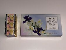 Bronnley White Iris Guest Soap X3 Boxed New Willow Cottage Lavender Bath Cube X3