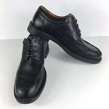 Johnston & Murphy Men's Shoes Moc Black Leather Lace-Up Size 10.5