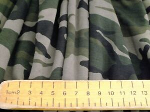 cotton jersey lycra  camouflage  green