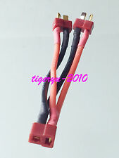 Deans Style T-Plug Parallel Y Harness 1 jack to 2 plug cable for Lipo RC Battery