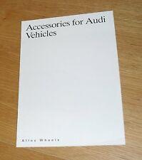 Audi Accessories Alloy Wheel Brochure 1990 - BBS Votex Ronal
