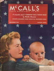 1942 McCalls November - Windsor VT women on the home front; Minnesota crops high