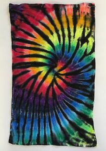*New* Handmade Tie Dye 12 Color Spectrum Washcloth Hand, Bath Towel, Single/Set