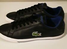 Lacoste Sports Black Leather Trainers Sneakers Shoe Mens US 8 UK 7