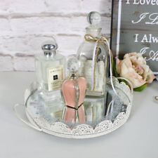 Round cream mirrored display tray candle plate shabby vintage chic wedding gift & Glass French Country Decorative Plates u0026 Bowls | eBay