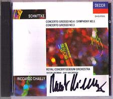 Riccardo CHAILLY Signiert SCHNITTKE Concerto Grosso No.3 & 4 (Symphony No.5) CD