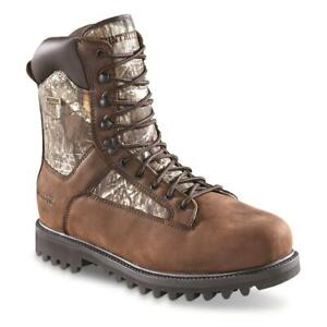 New HuntRite Men's Insulated Waterproof Hunting Boots, 1,200-gram Brown/Realtree
