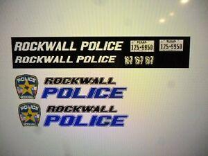 Rockwall Texas Police  Patrol Vehicle Decals 1:24