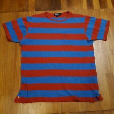 Vintage Polo Ralph Lauren Striped Pocket Tshirt Single Stitch MADE IN USA Large