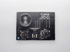 [GOOD] Genuine Instructions Manual Booklet english edition - Canon A1 A-1 camera