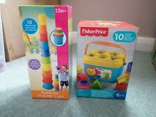 Baby Toys Stacking Cups And First Blocks Bundle NEW
