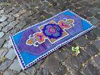 Vintage from 1950s, %100 wool handmade Turkish vintage rug   1,4 x 2,6 ft