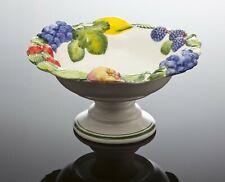 Bassano mediterrane Obst Etagere Früchten Relief italienische Keramik 31x16 NEU
