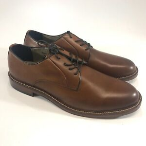 Banana Republic Mens Ortholite Brown Leather Oxford Shoes Round Toe Size 10.5