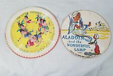 Vintage 1940's Cardboard Records Aladdin & the Wonderful Lamp, 10 Little Indians