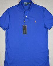 Polo Ralph Lauren Shirt Pima Soft Touch Interlock Iris Blue S Small NWT $85