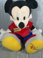 """Disney Mickey Mouse Fisher Price 22"""" inch 2002 Jumbo Plush Blue Pants Sneakers."""
