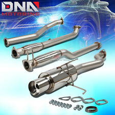 "FOR 01-05 HONDA CIVIC DX/LX EM/ES 4""TIP STAINLESS STEEL EXHAUST CATBACK SYSTEM"