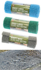 "3PC Miner's Moss 12"" x 36"" Sluice Box Matting 3 COLOR GREY GREEN BLUE"