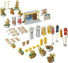 Faller HO Scale Scenery Accessory Kit Town Accessories Phones/Trash Cans/Flowers