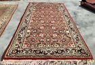Authentic Hand Knotted Vintage Indo Wool Area Rug 5 x 3 Ft (2333 KBN)