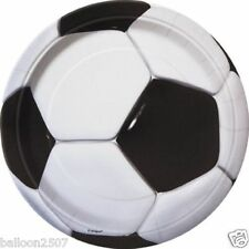 FOOTBALL SOCCER BIRTHDAY PARTY Plates Cups Tablecover Balloons Banner Boys Kids