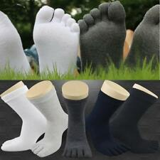 10x Men Women Winter Sports Warm Heat Thick Crew Cushion Five Finger 5 Toe Socks