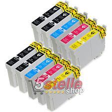 KIT 10 CARTUCCE XL PER EPSON XP235 XP245 XP247 XP332 XP335 NERO + COLORE REMAN