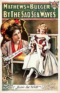 Old Vintage Opera Poster By The Sad Sea Waves / Fade Resistant HD Print / Canvas