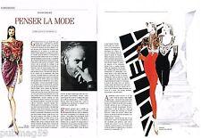 Coupure de presse Clipping 1990 (2 pages ) Gianni Versace ..penser la mode