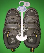 NEW! TCP Boys Size 10 Gray Fasten Shoes Non-Marking Athletic Gift! Nice $19.95