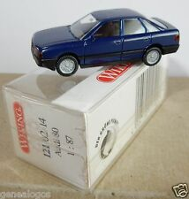 MICRO WIKING HO 1/87 AUDI 80 BLEU FONCE IN BOX