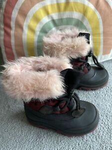 🌈Gorgeous H&M Furry Snow Boots Infant Size 6 🌈
